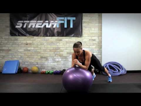StreamFIT Minute: Stir the Pot Stability Ball Abs Exercise with Cassandra Forsythe