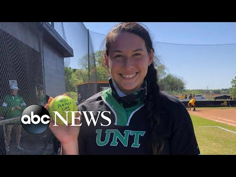 College senior makes softball history with perfect game | WNT