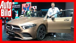 Mercedes A-Klasse Limousine (Auto China 2018) Details/Erklärung