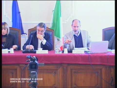 ALASSIO IL CONSIGLIO COMUNALE DI LUNEDI' 23 DICEMBRE 2019