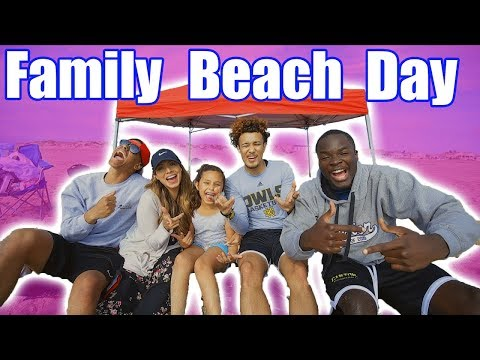 YOU WILL NEVER GUESS WHAT HAPPENED ON OUR BEACH DAY...TRAPPED IN THE SAND CHALLENGE!!