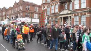 preview picture of video 'St Patrick's Day Parade at Willesden Green, London'