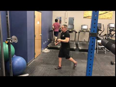 Cable One-Arm Row with Reverse Lunge