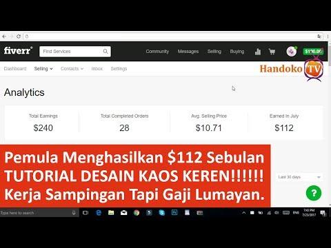 Video $112 Dalam Sebulan Kerja Di Fiverr + Tutorial Desain Kaos ( Gaji Kedua dari fiverr )