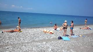 Лазаревская. Западные пляжи