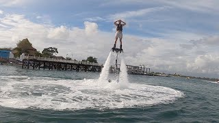 How to Fly with FLYBOARD in BALI | Watersport Activities in INDONESIA | Delishes Food in Bali