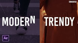 Modern Slideshow Techniques   After Effects Tutorial