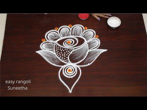 creative muggulu with 5 dots kolam design by easy rangoli