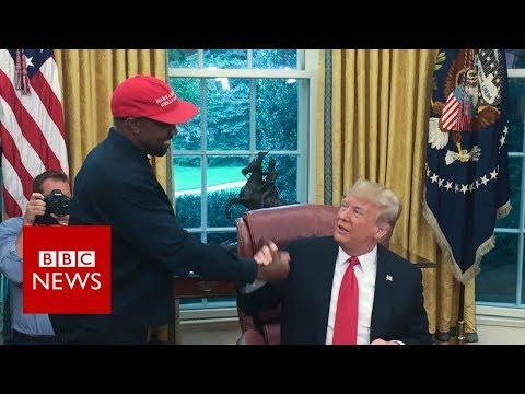 Kanye-Trump bromance on show – best bits – BBC News