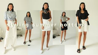 CASUAL SUMMER OUTFITS | 5 Bottoms, 25 Outfits