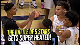 Sharife Cooper vs Scottie Barnes GETS HEATED FAST!! Non-Stop Trash Talk ALL GAME!! AOT vs Nightrydas