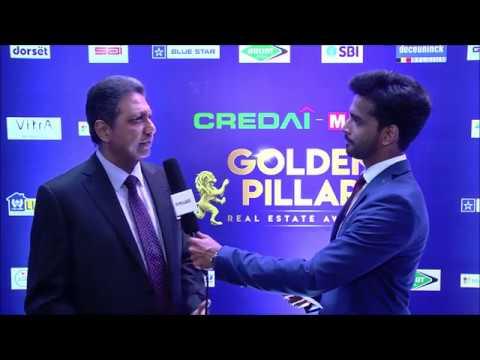 Hardik Vaidya hosting the Golden Carpet at the Golden Pillar Awards 2018 organized by CREDAI MCHI