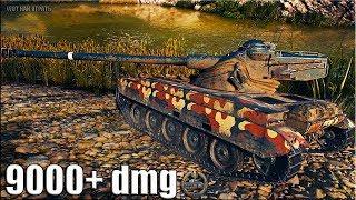 Колобанов на лт AMX 13 105 🌟 9000+ dmg 🌟 World of Tanks лучший бой на лт 10 уровня Франции