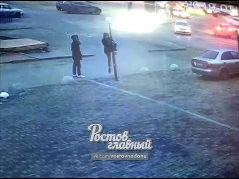 В Ростове-на-Дону группа хулиганов разбила фонари
