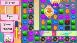 Candy Crush 2499 1st try with Stat Chaser and Mort's Magic Helmet Bonus
