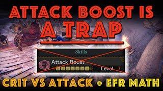 ATTACK BOOST IS A TRAP! Attack vs Crit Math (MHW Iceborne)