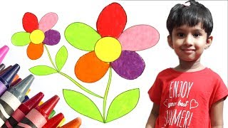 Flower Coloring Pages - An Amazing Coloring Flower Videos For Kids - Juhanah