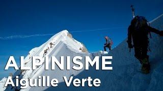 Aiguille Verte Couloir Whymper Chamonix Mont-Blanc alpinisme ski de randonnée montagne