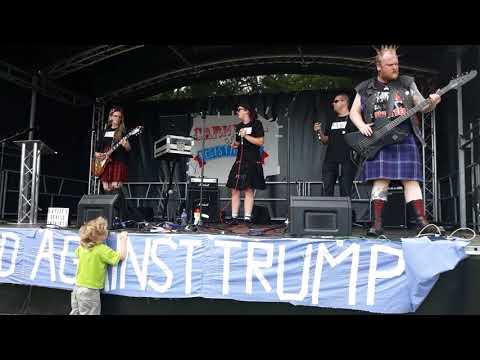Donald Trump protest Edinburgh - Haylee G - Devils in Skirts...