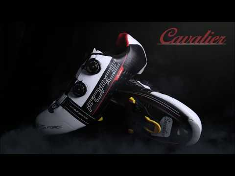 Force Cavalier carbon cykelsko sort/hvid video