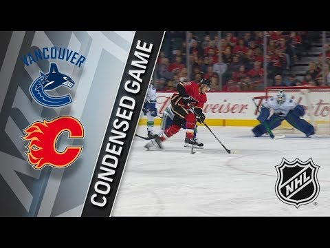 Vancouver Canucks vs Calgary Flames – Dec. 09, 2017 | Game Highlights | NHL 2017/18. Обзор матча