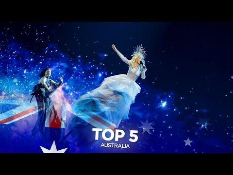 Australia in Eurovision - My Top 5 (2015-2019)