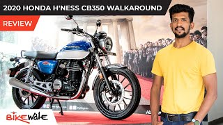 Honda H'ness CB350 Walkaround Review | Does the Exhaust Sound Better Than Royal Enfield | BikeWale