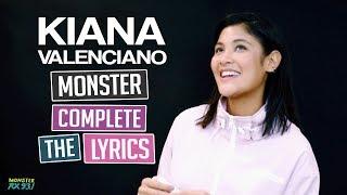 Kiana Plays 'Complete the Lyrics' | Monster Vlogs