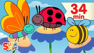 Butterfly Ladybug Bumblebee | + More Kids Songs | Super Simple Songs