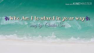 Who am I to stand in your way lyrics