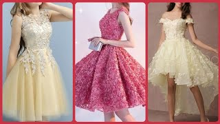 Beautiful Round Neck Sleeveless Flowers Applique Tulle Lace Short Homecoming Dresses