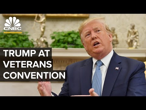 WATCH LIVE: President Trump speaks at American Veterans annual convention – 08/21/2019