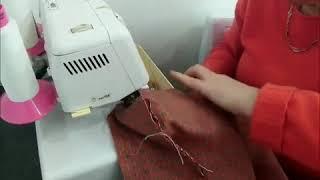 Fabrication d'un coussin de fauteuil passepoilé