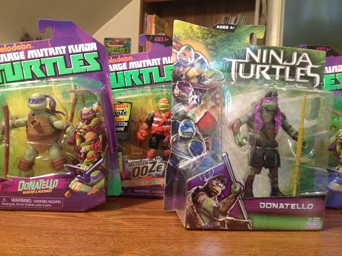 Collection Of Newer Teenage Mutant Ninja Turtles Toys