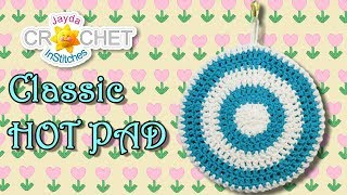 Kitchen Hot Pad Pot Holder In Vintage Style - Crochet Pattern & Tutorial