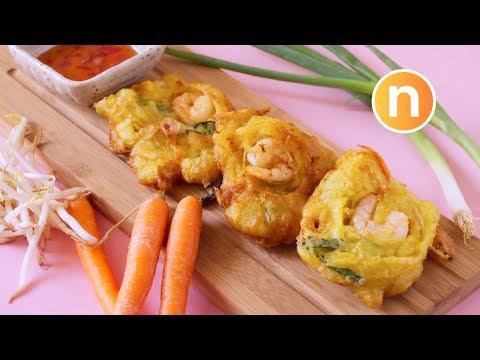 Cucur udang mamak | Prawn Fritters | Jemput-jemput udang [Nyonya Cooking]