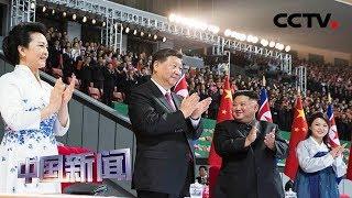 [中国新闻] 习近平和彭丽媛观看朝鲜大型团体操和艺术演出   CCTV中文国际