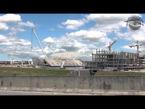 Obras da Arena Corinthians em 18/11/2012