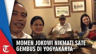 Jokowi Jajan Sate Gembus, Kaesang Jadi 'Tukang Sate Dadakan'