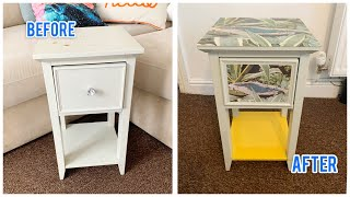 QUICK & EASY FURNITURE UPCYCLE ¦ DECOUPAGE ON WOOD IDEAS