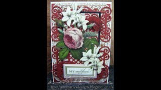 443.Cardmaking Project: Anna Griffin Condolence Floral Card