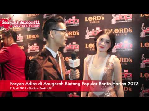 Fesyen Adira di Anugerah Bintang Popular Berita Harian 2012