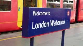 preview picture of video 'Fantastic Train Announcements at London Waterloo 30 July 2014'