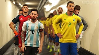 What if CRISTIANO RONALDO played for BRAZIL ?   BRAZIL vs ARGENTINA   PES 2019 Gameplay PC