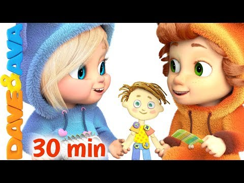 ❤️ Pin Pon | Nursery Rhymes Collection | 30 min | Songs for Babies from Dave and Ava ❤️