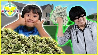Roblox ROB THE $10,000,000 MANSION ! Let's Play with Ryan vs. Daddy