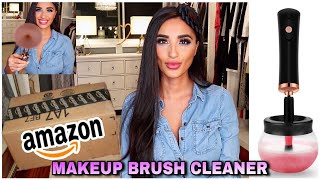 DOES IT REALLY WORK? AMAZON MAKEUP BRUSH CLEANER L UNBOXING, TESTING & REVIEW