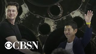 SpaceX gets its first passenger for future trip to the moon