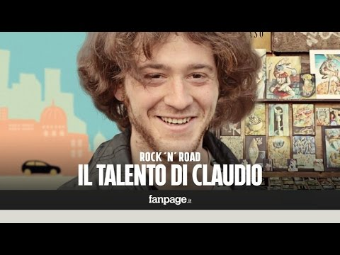 Il talento di Claudio, pittore visionario: la sua storia di strada in Rock'n'Road