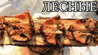 Дикая кухня - ЖАРЕНАЯ РЫБА НА ДОСКЕ | Деревянные гвозди - Planked Fish